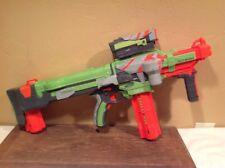 Nerf Vortex Nitron Disc Gun W/Scope Clip & Bullets