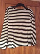 Thick Uk Size 16-18 Pit To Pit 20 Inch GAP Ladies Long Sleeve striped Top