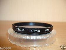 Jessop 49 mm 80 A Bleu Filtre avec étui (2AG12)