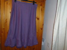 Per Una Calf Length Linen Plus Size Skirts for Women