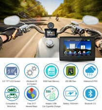 "5.0"" Inch 8GB Waterproof Motorcycle Car GPS Navigation Sat Nav Bluetooth FM Maps"
