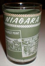VINTAGE 1940'S-1950'S ANTIQUE SOUVENIR NIAGARA FALLS CANADA TUMBLER GLASS