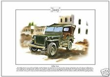 WILLYS' JEEP Fine Art Print - US American Military WWII