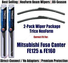 Wipers 2-Pack Premium fit 2012+ Mitsubishi Fuso Canter FE125 FE160 - 16200x2