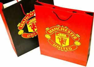 Job Lot x 24 Manchester United official XL Gift Bags 12 RED & 12 BLACK crested