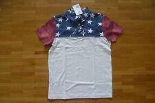 H&M Cooles Rugbyshirt aus Jersey Größe 134/140 NEU mit Etikett America Sterne