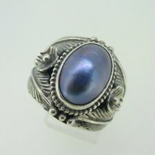 Sterling Silver Southwest Blue Shell Merav Ring Size 9