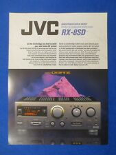 JVC RX-8SD Receiver Brochure Factory Original The Real Thing
