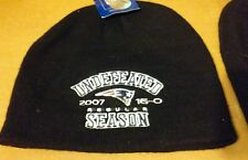 "New England Patriots ""UNDEFEATED SEASON"" knit uncuffed hat 2007 beanie Reebok"