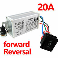 12V 24V PWM DC Motor Stepless Variable Speed Controller Switch with Metal Shell