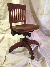 Wood Office Desk Bankers Captains Antique Vintage Teachers Lawyers Chair