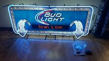 (L@@K) BUD LIGHT BEER LED MESSAGE BOARD MOTION MOVING 4FT NEON LIGHT UP SIGN MIB