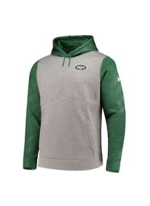 Under Armour New York Jets Gray/Green Combine Authentic Novelty Pullover Hoodie