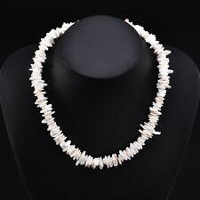Hawaiian Women White Conch Clam Chips puka Shell Necklace Collar Choker Necklace