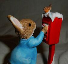 2014 Peter Rabbit Posting a Letter Beatrix Potter Mini Figurine Enesco