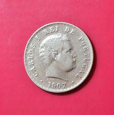 PORTUGAL 500 REIS 1907 - King CARLOS I - Silver Coin  [#EA30]