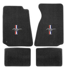 NEW! 1994 - 2004 Ford Mustang Grey Floor mats with Logo Set of 4 Carpet RWB Logo