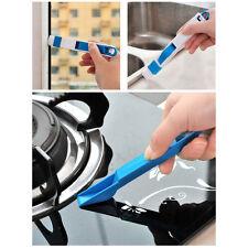 2 in 1 Cleaning Brush+Dustpan Set Plastic Window Slot Gap Toilet Corner Cleaner