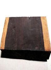 Ebenholz Klotz Makassar 20 Jahre gelagert schwarz Ebano Ébène 26x26cm T8