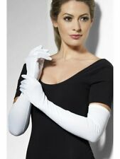 Ladies Long White Gloves Opera Wedding Bridal Evening Party Prom Flapper Costume