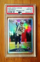 2009 Topps Chrome Refractor #70 TOM BRADY PSA 10 GEM MINT