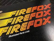 Atari Firefox Arcade Machine Illustrated Parts Lists Manual Free Ship
