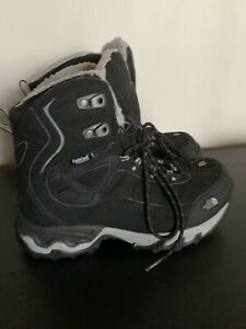 NORTH FACE Black & Gray HYDROSEAL Waterproof PRIMALOFT Insulated VALDEZ Boots 7