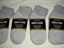 DIABETIC SOCKS CASUAL GRAY ANKLE SZ 9-11 FREE SHIP 12 PAIR MADE IN U S A