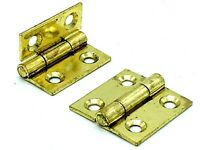 8 x BUTT HINGES 38mm zinc plated dolls house hinge countersunk with screws 154