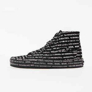 Women's We Are Beautiful Vans SK8-Hi Tapered Shoes Size 8 Black/Pink