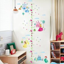 Disney Princess Growth Height Chart Measure Wall Sticker Baby Girl Room Gift