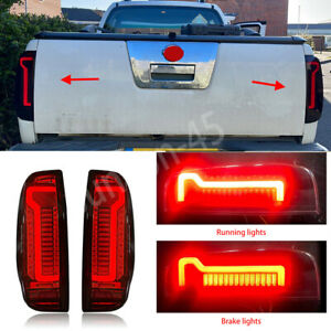 For Nissan Frontier 2005-2020 D40 Smoke LED Rear Brake Tail Lights Lamps Pair