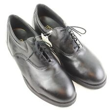 Lehigh Black Leather Upper Rubber Sole Plain Toe Lace Up Safety Shoe Sz 10M NWT