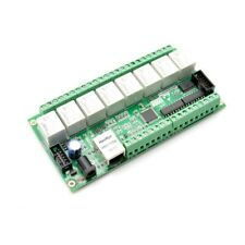 Ethernet IO's card - LAN IP 8 Relais 10A, 8 Entrees Digital, 4 Entrees Analog