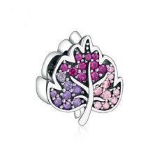 New European 925 Silver CZ Charm Beads Pendant Fit sterling Bracelet Chain 006