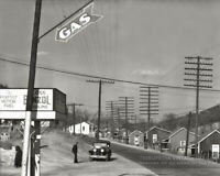 Vintage 1935 Photo * ALABAMA MINERS' HOUSES * OLD GAS STATION Cars Sloss Benzol