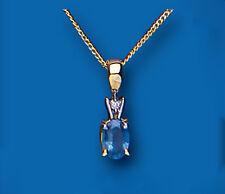 Zafiro y Colgante Con Diamante Oro Amarillo Kanchan zafiro Con Premium diamante