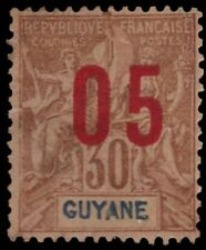 "FRENCH GUIANA 91a (Mi70ii) - Navigation and Commerce ""Type II"" (pa7921)"
