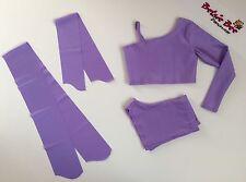 4 PEZZI Lilla Lycra Danza età 3-5 Pantaloncini/Crop Top Starter principianti pratica