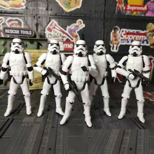"""Lot of 5PCS Star Wars Stormtroopers OTC Trilogy W/ Guns 3.75""""Action Fiugres Toy"""