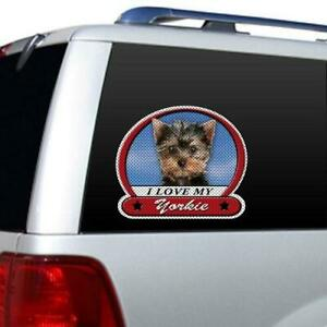 I Love My Yorkie Picture Large Window Film Car Truck Decal Sticker