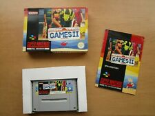 California Games 2, SNES Super Nintendo, OVP/CIB