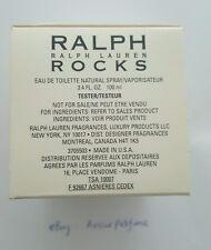 Ralph Lauren Rocks 100ml 3.4oz Women's EDT Spray Unused Tester with Cap Rare