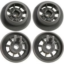 for Bosch Neff & Siemens Dishwasher Lower Rail Basket Wheels x 4 Grey Rollers