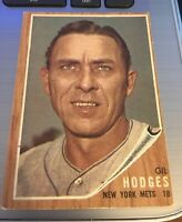 1962 TOPPS GIL HODGES New York Mets 1962 Topps Vintage Trading Card #85