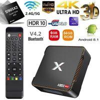 X96 MAX Android 8.1.0 TV BOX S905X2 Quad Core 16G//32G//64G 4K WiFi 3D Media BT4.1