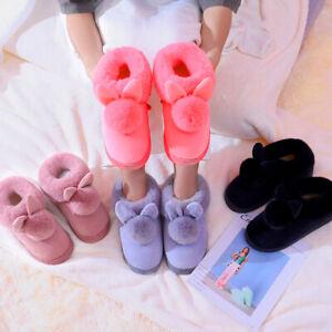 Womens Bunny Rabbit Plush Winter Warm Home Slipper Slip On Indoor Shoes Fashion