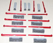 LEGO LOT OF 12 NEW SPRING LOADED RED MISSILES DART SHOOTERS SHOOTER PIECES