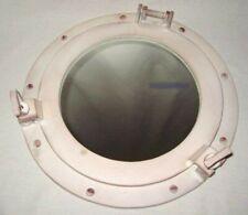 XL-MARITIMER Porthole Mirror - Aluminium Elfenbeinoptik-