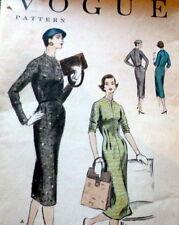 LOVELY VTG 1950s DRESS VOGUE Sewing Pattern 16/34
